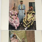 Tunisia Tunis North Africa 1890s color photo book - traditional dress