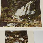 Cauterets France 1890s color photos Book Cascade Lutour pont d'espagne