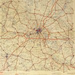 "Berlin Brandenburg Aral Street Map 1939 - Size 16x17"" w/ close up"
