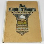 German Bavaria Color Photo Portfolio 1919 w/40 Old Lithographs Germany