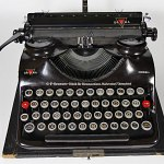SS Typewriter Groma Model T 1944 Cased Field Machine w/ Nazi Runes