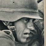 German WW2 Picture Book 1942 - Countenances Faces of German War Soldiers in Battle / Fight Kampf WWII Fields Images