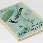 Fallschirmjager Paratrooper Wartime Comic Cartoon 1941 WW2   Luftwaffe